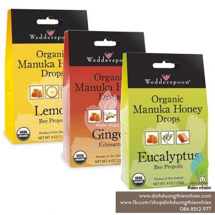 Wedderspoon_OrganicManukaHoneyDrops_Lemon_Gingner_Eucalytus